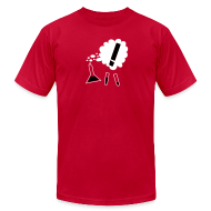 T-Shirts ~ Men's T-Shirt by American Apparel ~ Nothing in Biology test tubes and flask, red