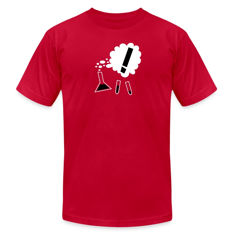 Nothing in Biology test tubes and flask, red - Men's T-Shirt by American Apparel
