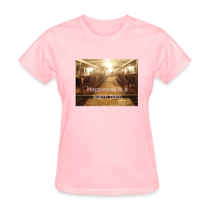 'Happiness is a warm barn' standard T - Women's T-Shirt