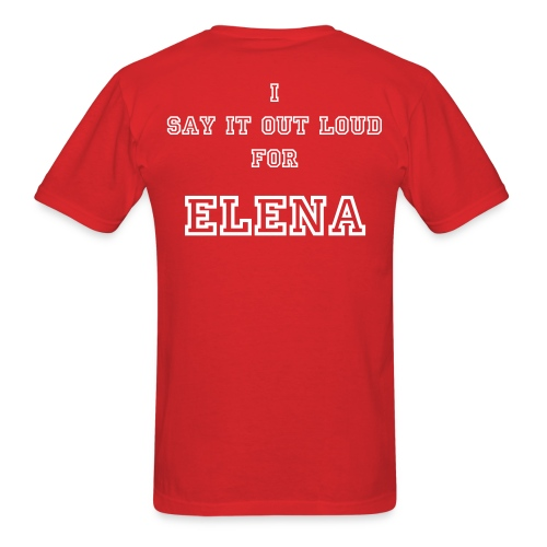 TEAM STILL PROJECT MEN #1 - ELENA RED - Men's T-Shirt