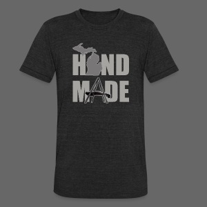 Hand Made - Unisex Tri-Blend T-Shirt by American Apparel