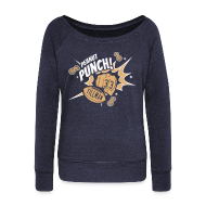 Long Sleeve Shirts ~ Women's Wideneck Sweatshirt ~ PEANUT PUNCH (Charles Tillman #33)