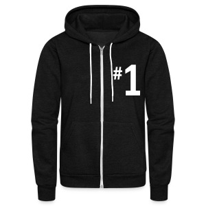 #1 Zip Hooded Sweatshirt - Unisex Fleece Zip Hoodie by American Apparel