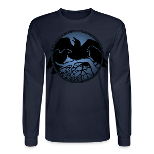 Raven Art Shirt Men's Raven Spirit Animal Shirt - Men's Long Sleeve T-Shirt