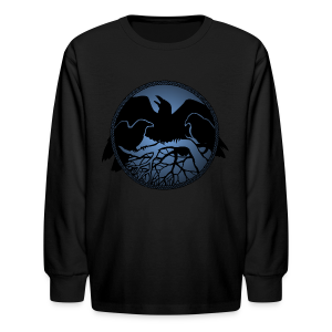 Raven Art Shirt Kid's Raven Spirit Animal Shirt - Kids' Long Sleeve T-Shirt