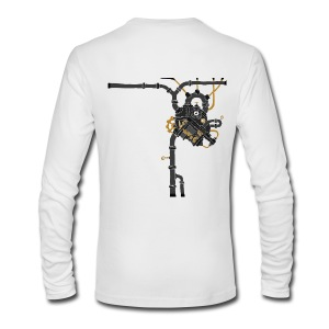 Men's Long Sleeve T-Shirt by Next Level - victorian steampunk,steampunk women t shirts,steampunk tshirt,steampunk t shirt,steampunk jewelry,steampunk goggles,steampunk fashion,steampunk costume,steampunk clothing men,steampunk clothing,steampunk art,steampunk,steam punk clothing,steam punk,mens steampunk clothing,mens steampunk,gothic clothing