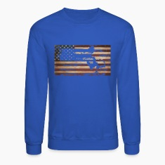 Massachusetts American Flag Long Sleeve Shirts
