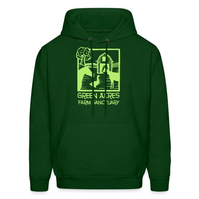 Men's Style Hoodie - Green Logo