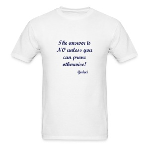 The answer is NO... - Men's T-Shirt