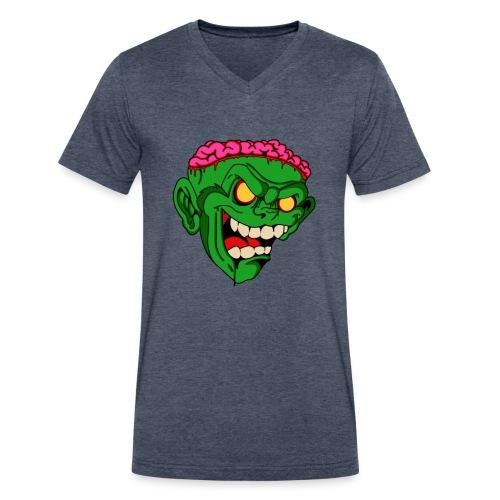 Men's Monkey Brains Vneck - Men's V-Neck T-Shirt by Canvas