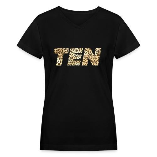 Women's Perfect Ten  - Women's V-Neck T-Shirt