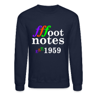 Long Sleeve Shirts ~ Crewneck Sweatshirt ~ Classic Footnote Crew Neck - Blue