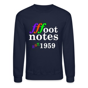 Classic Footnote Crew Neck - Blue - Crewneck Sweatshirt
