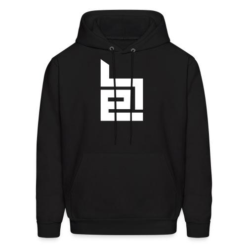 White Logo Hoodie - Men's Hoodie