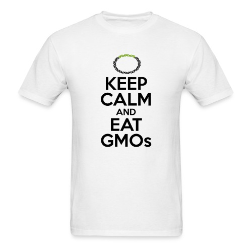 Men's T-Shirt - Tired of watching people trying to ban technologies they don't even understand? Relax, the scientific consensus says that transgenic crops are as safe as conventional crops. Show your support for evidence-based public policy.