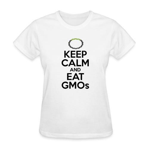 Women's T-Shirt - Tired of watching people trying to ban technologies they don't even understand? Relax, the scientific consensus says that transgenic crops are as safe as conventional crops. Show your support for evidence-based public policy.