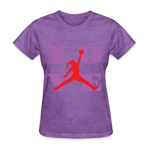 Womens Love Basketball Shirt - Women's T-Shirt