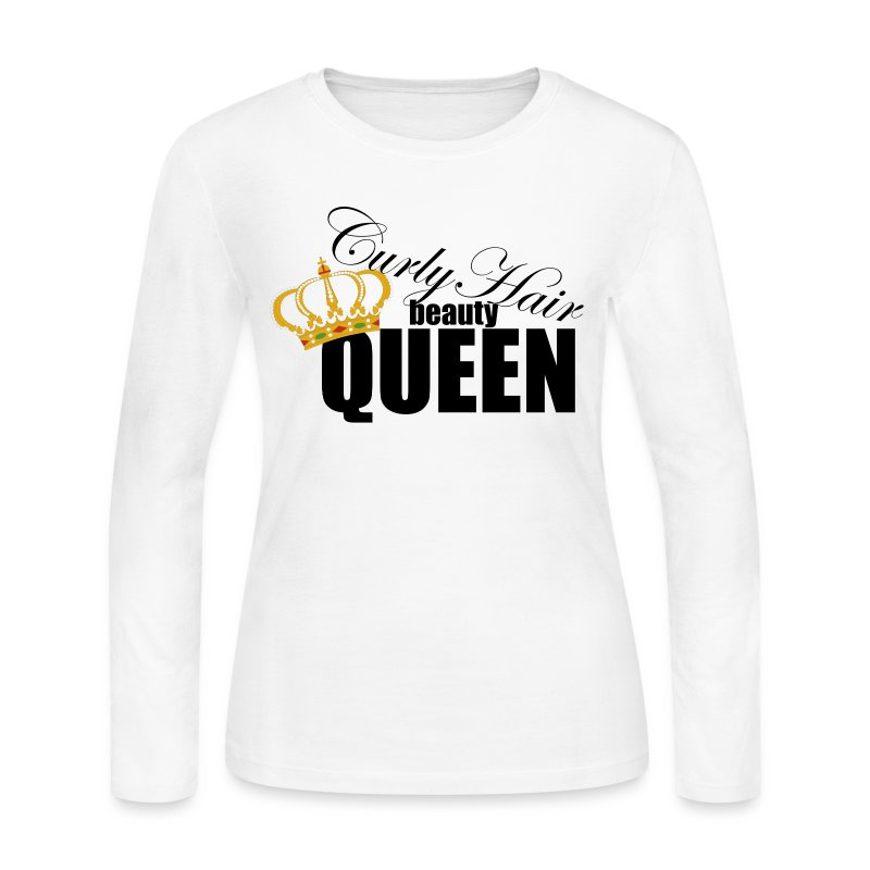 curly_hair_queen - Women's Long Sleeve Jersey T-Shirt