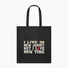 I Live In New Jersey But I Love New York Bags & backpacks