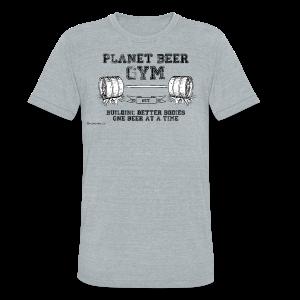 Planet Beer Gym Men's Tri-Blend Vintage T-Shirt  - Unisex Tri-Blend T-Shirt