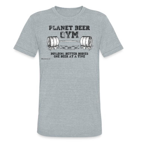 Planet Beer Gym Men's Tri-Blend Vintage T-Shirt  - Unisex Tri-Blend T-Shirt