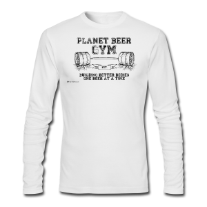 Planet Beer Gym Men's Long Sleeve T-Shirt  - Men's Long Sleeve T-Shirt by Next Level