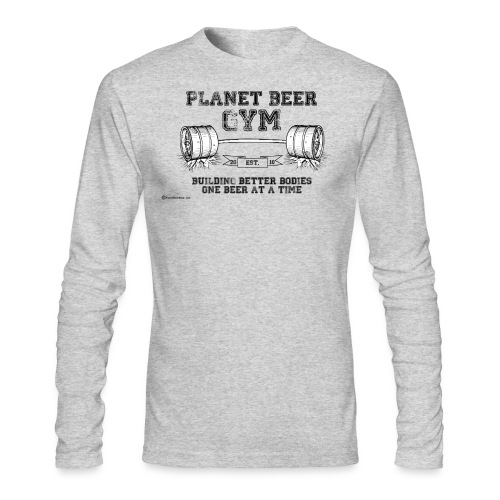Planet Beer Gym Men's Long Sleeve T-Shirt  - Men's Long Sleeve T-Shirt by Next Level