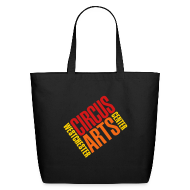 Bags & backpacks ~ Eco-Friendly Cotton Tote ~ Tote bag with logo in red, orange & yellow