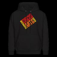 Hoodies ~ Men's Hoodie ~ Men's fit sweatshirt logo red orange & yellow