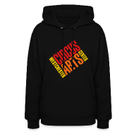 Hoodies ~ Women's Hoodie ~ Women's fit sweatshirt logo red orange & yellow