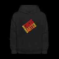 Sweatshirts ~ Kids' Hoodie ~ Youth fit sweatshirt logo red orange & yellow