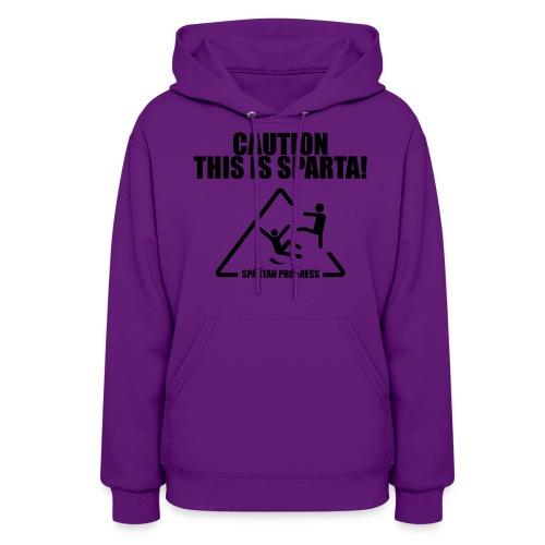Caution Women Hooded Sweatshirt - Women's Hoodie