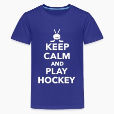 Keep calm and play Hockey Kids' Shirts