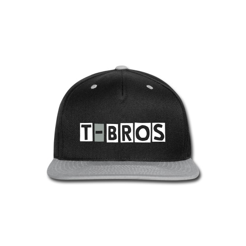 T-Bros Black and Grey Snapback - Snap-back Baseball Cap