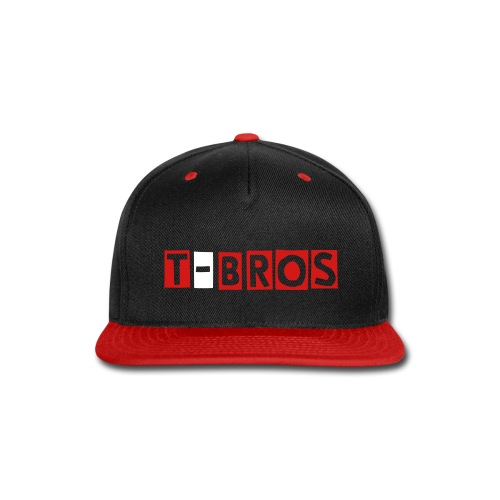 T-Bros Black and Red Snapback - Snap-back Baseball Cap