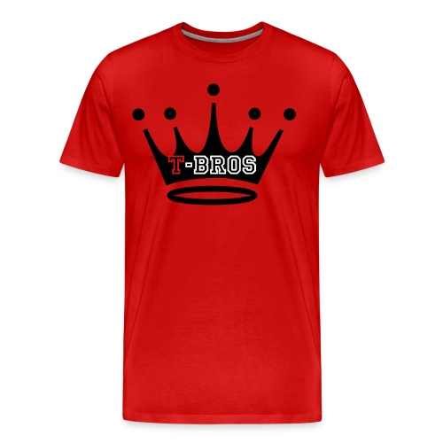 T-Bro Crown Red T-Shirt - Men's Premium T-Shirt