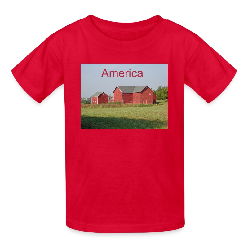 Find your kids in a crowd -- look for red! - Kids' T-Shirt
