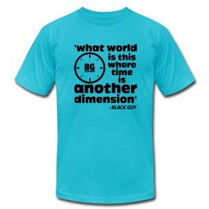 Another Dimension Black Print - Men's Fine Jersey T-Shirt