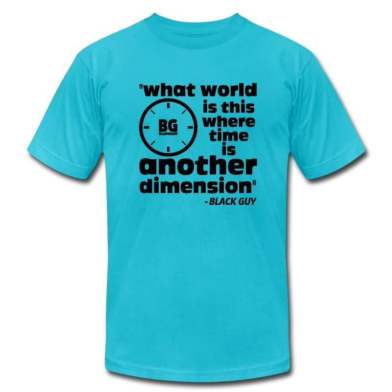 Another Dimension Black Print - Men's T-Shirt by American Apparel
