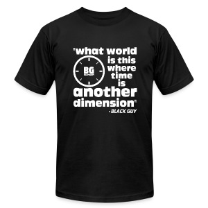 Another Dimension White Print - Men's T-Shirt by American Apparel