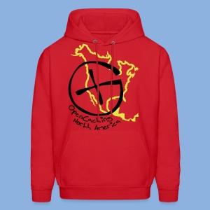 OCNA Logo Red Hoodie - Men's Hoodie