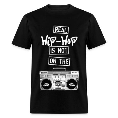Real Hip Hop T-Shirt Black - Men's T-Shirt