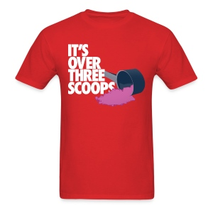 IT'S OVER THREE SCOOPS - Tee White Design - Men's T-Shirt
