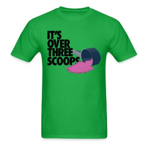 IT'S OVER THREE SCOOPS - Tee Black Design - Men's T-Shirt