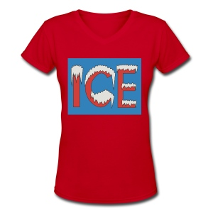 ICE - V-Neck - Women - Women's V-Neck T-Shirt