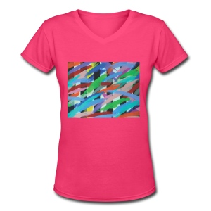 Tight Pants - V-Neck - Women - Women's V-Neck T-Shirt