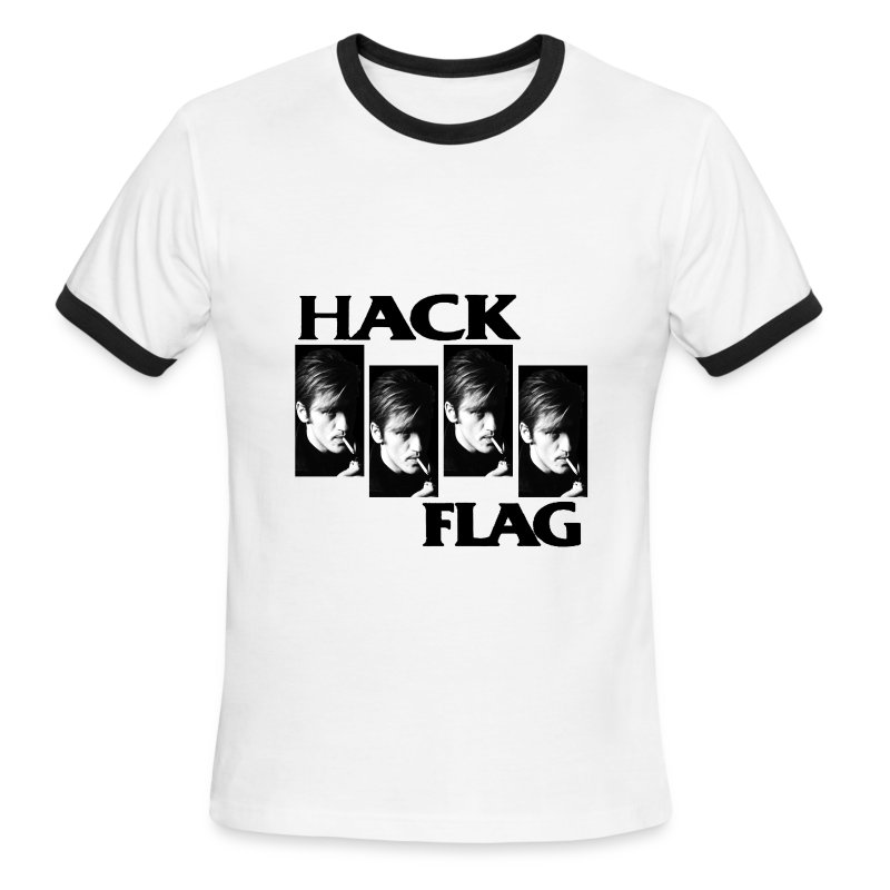 Hack Flag Ringer - Men's Ringer T-Shirt