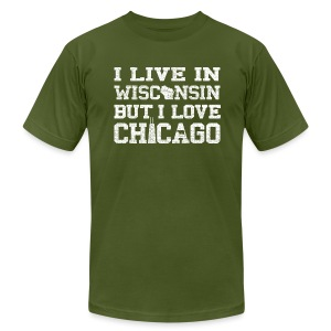 Live Wisconsin Love Chicago - Men's T-Shirt by American Apparel