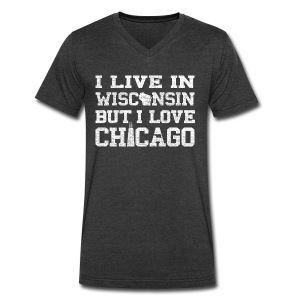 Live Wisconsin Love Chicago - Men's V-Neck T-Shirt by Canvas