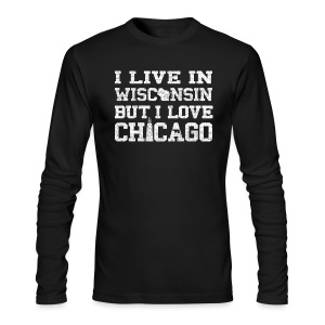 Live Wisconsin Love Chicago - Men's Long Sleeve T-Shirt by Next Level